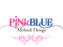 PinkBlue Mehndi Design