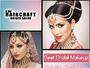 Contact haircraft Unisex salon for Best Bridal Mak