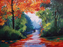 Landscape in Autumn Painting