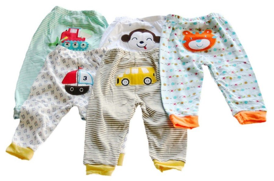 Carter's Comfy Pants Pack of 5 Green Blue And Balls-0-3