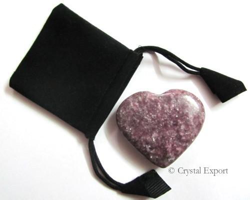 Lepidolite Puffy Heart