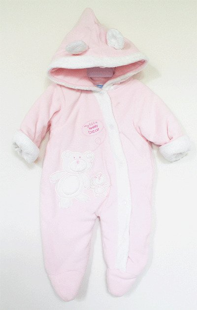 Cheeky Duck Fleece Romper - Baby Pink and White Fur