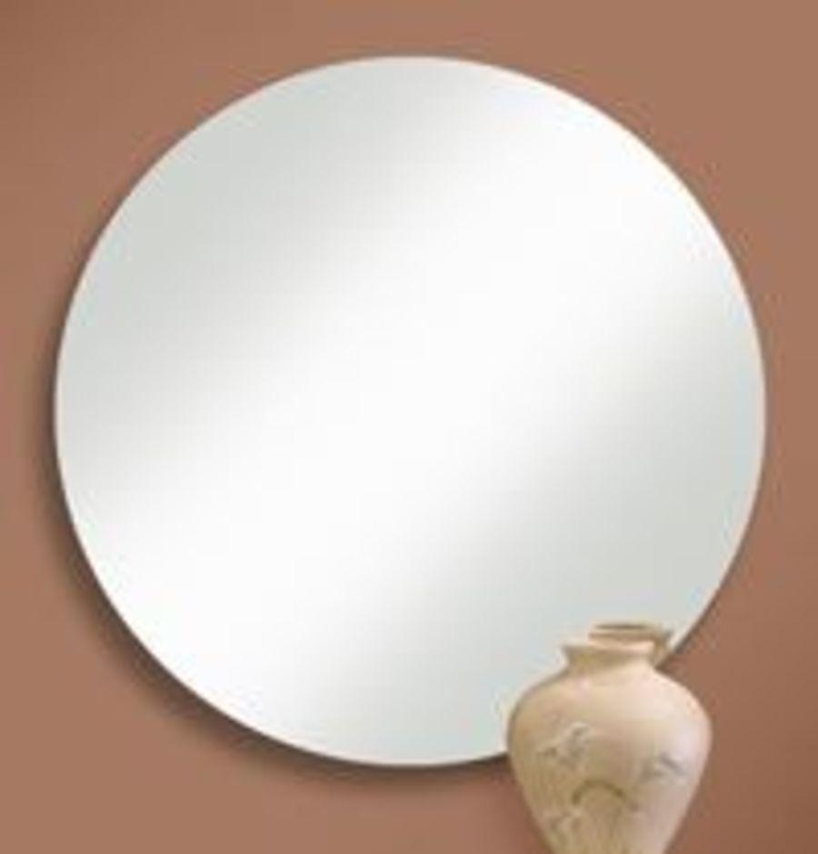 Round Frameless Mirror with High Polished EdgeSKU: KEN512-K334
