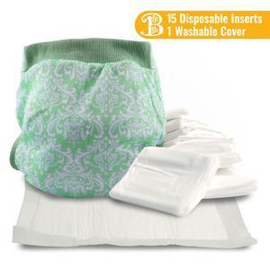 Cloth Diaper Cover & 15 Inserts - Bonnie