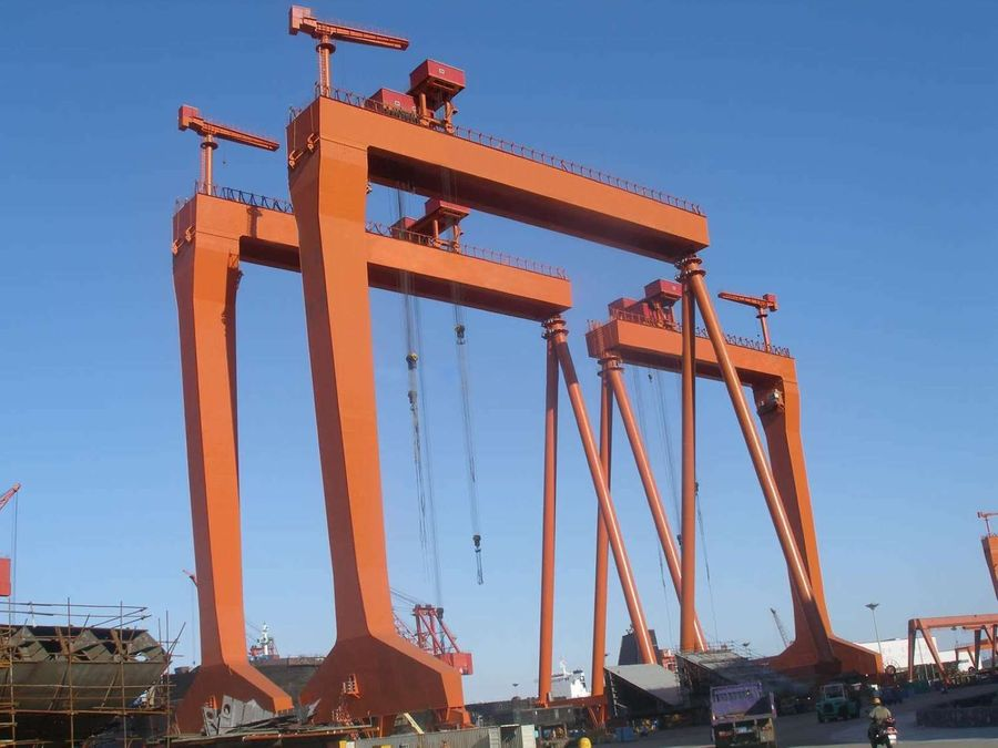 80 tons easy operation ship building dock gantry crane