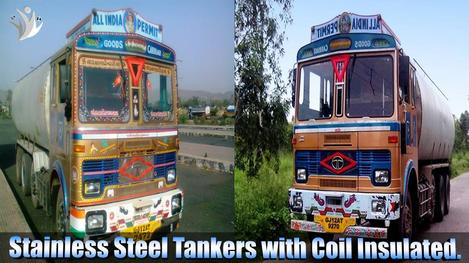 Stainless Steel Tankers with Coil Insulated