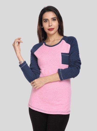 Pink Fleece Sweat Shirt