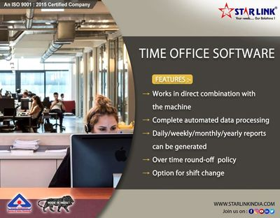 Biometric Attendance Machine with inbulit T ime Office