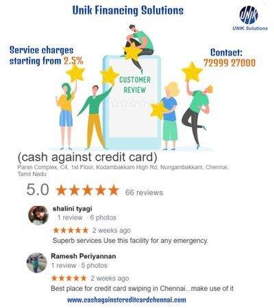 Our cash against credit card chennai Reviews