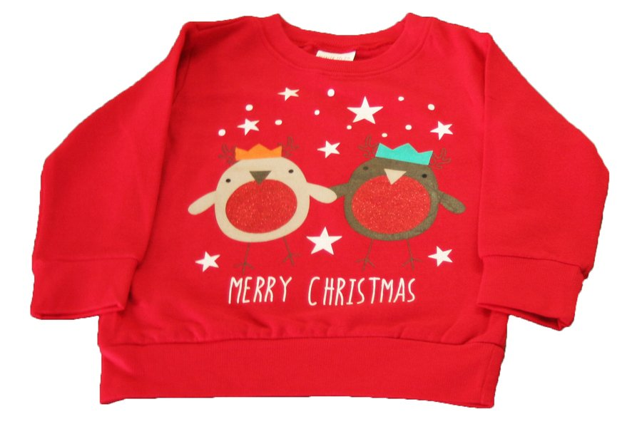 Minikidz Red Christmas Sweat Shirt 3-4 year