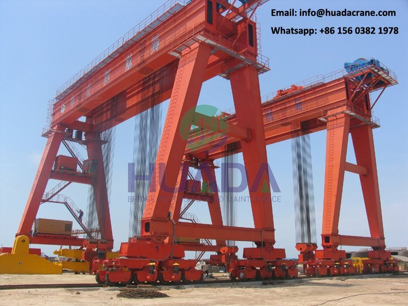 reasonable price shipbuilding port mobile box type gantry crane