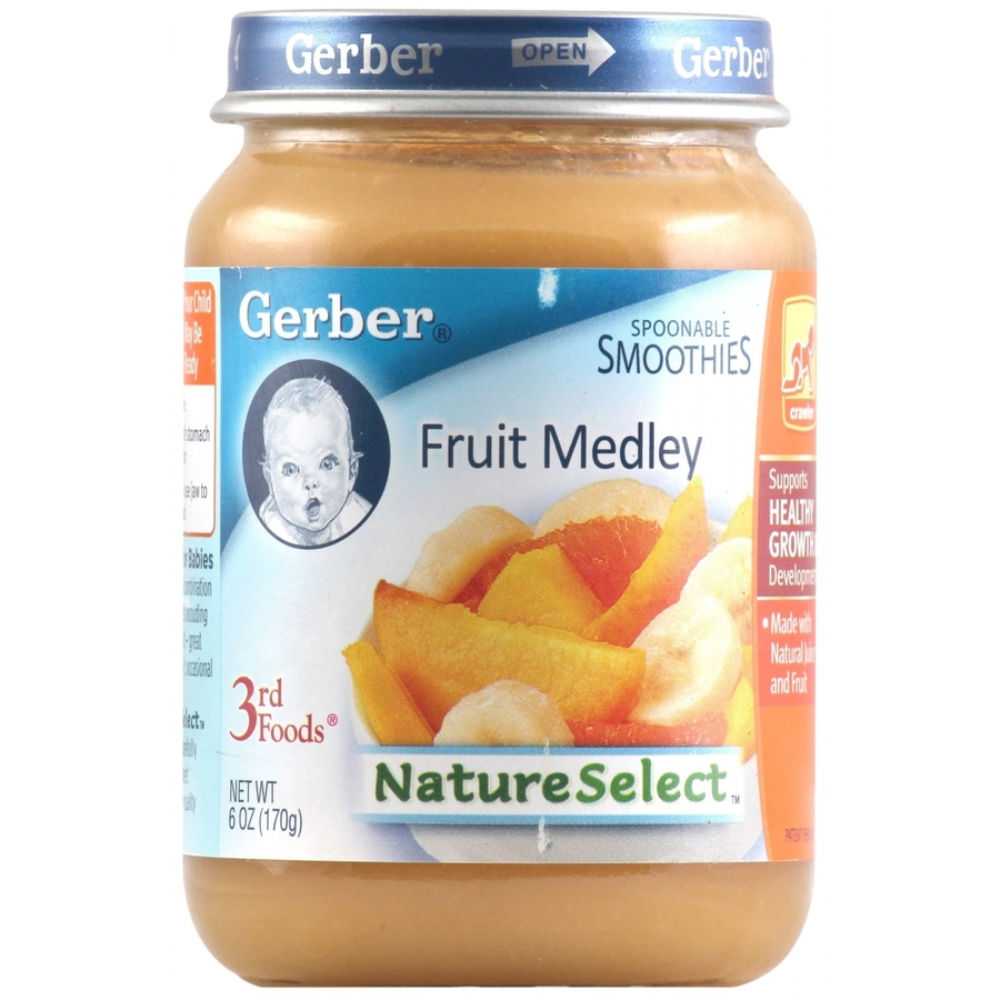 Gerber Nature Select 3rd Foods Fruit Medley Smoothies 170gm