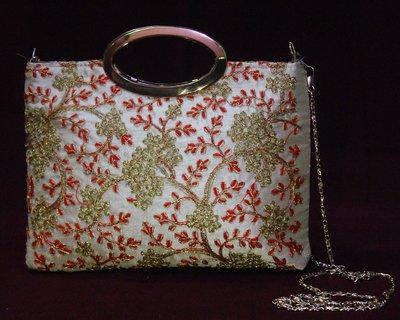 Fancy Handbags For Ladies | Fabric Embroidery Fancy Clutch B