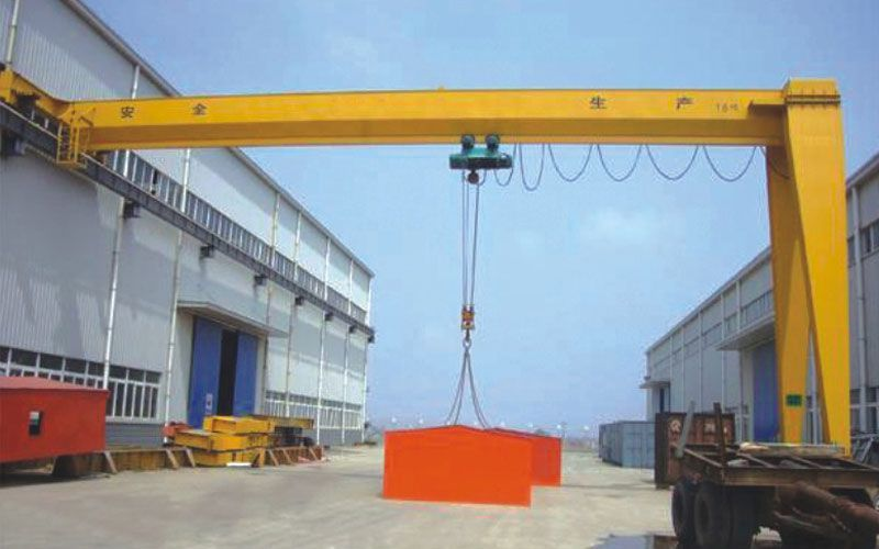 Professional 5ton single girder semi gantry crane with hoist
