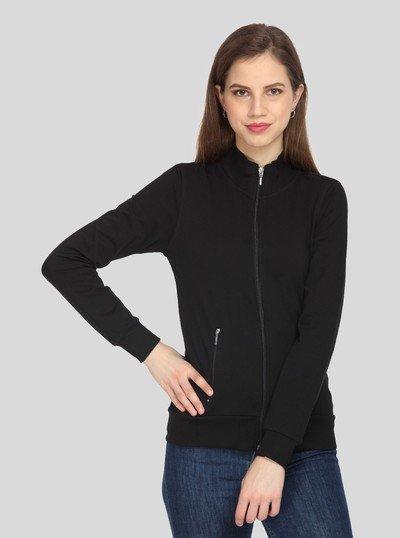 Black Zipper Sweatshirt