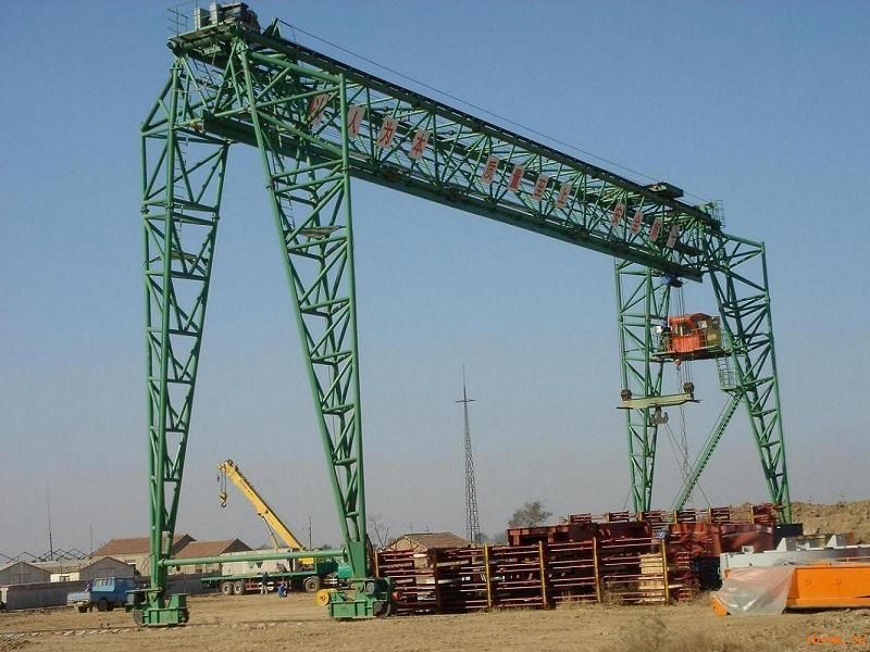 Best price trolley hook lifting 20t double girder gantry crane