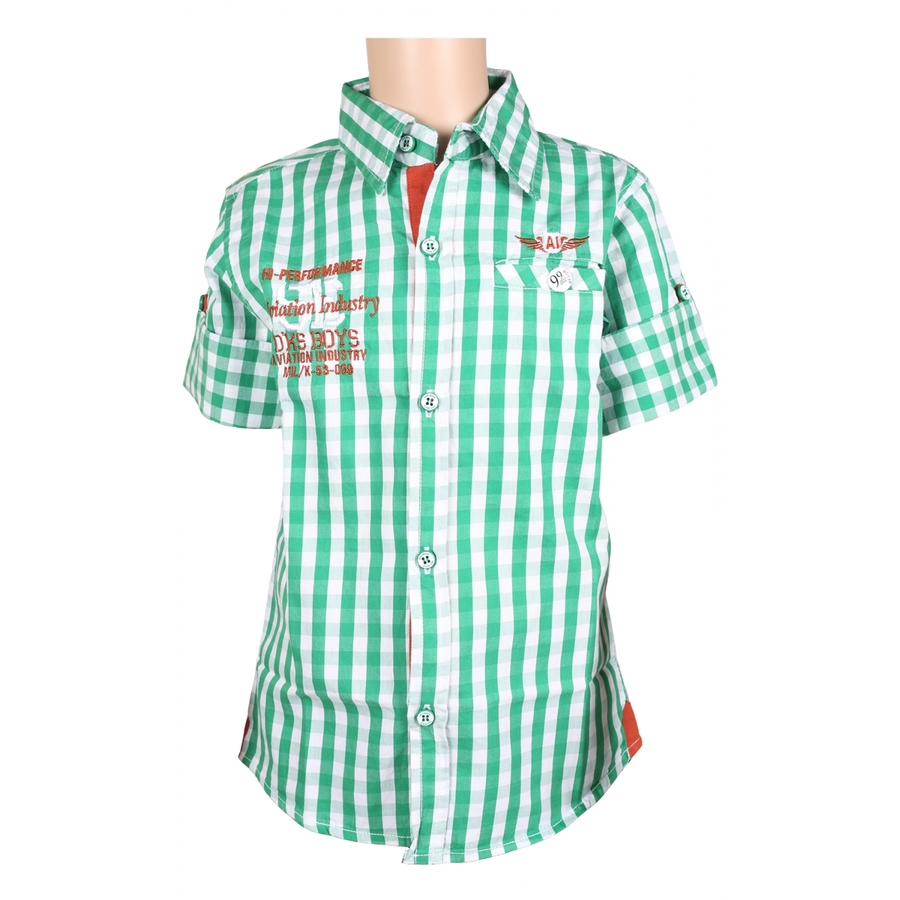 OKS Green Casual Shirt