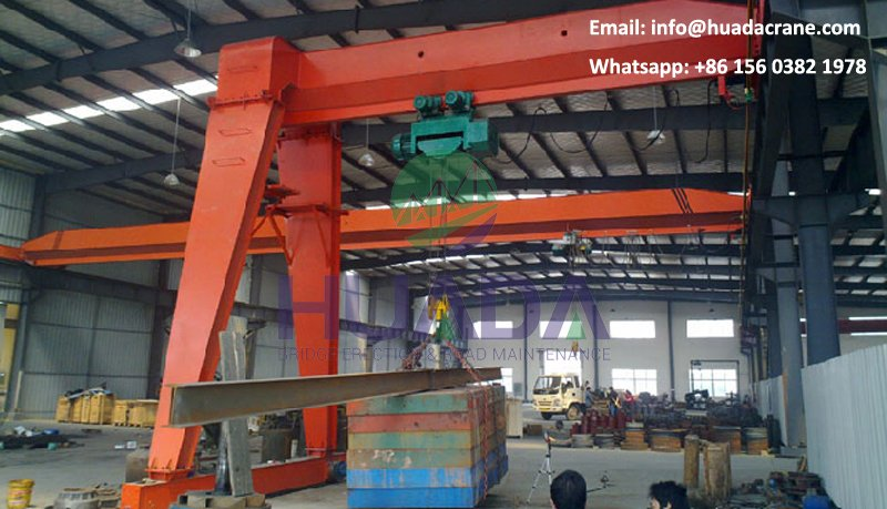 Made in China 5 ton Rail Mounted A Frame Semi Gantry Crane
