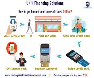 Cash against credit card Offline