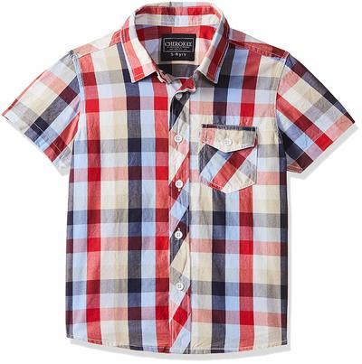 Cherokee by Unlimited Boys' Checkered Regular Fit Shirt